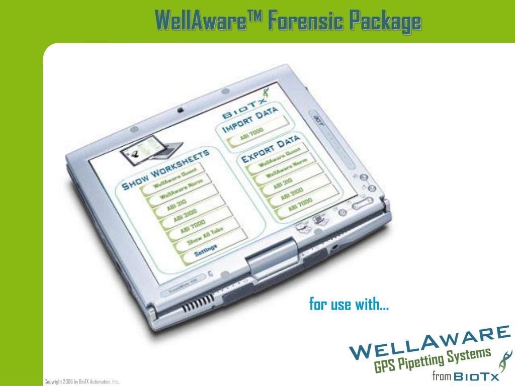 wellaware forensic package l.