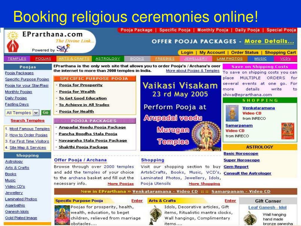 Booking religious ceremonies online!