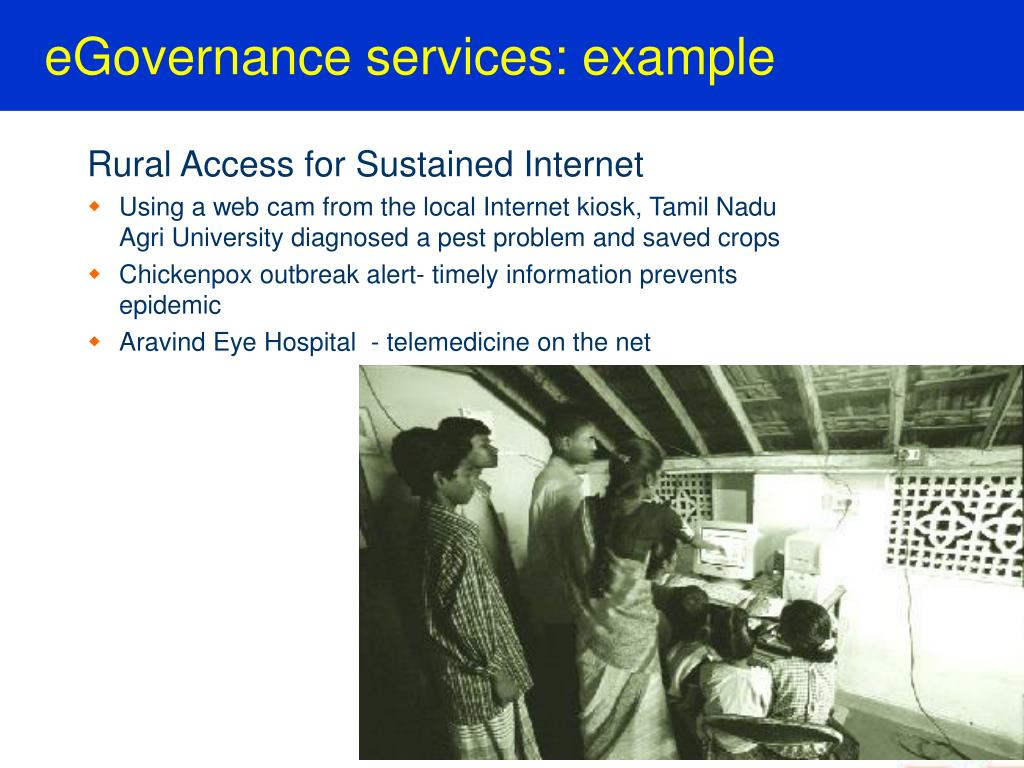 eGovernance services: example