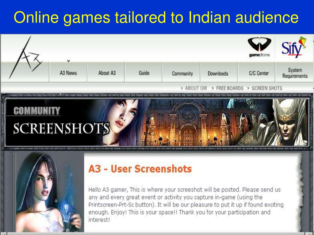 Online games tailored to Indian audience