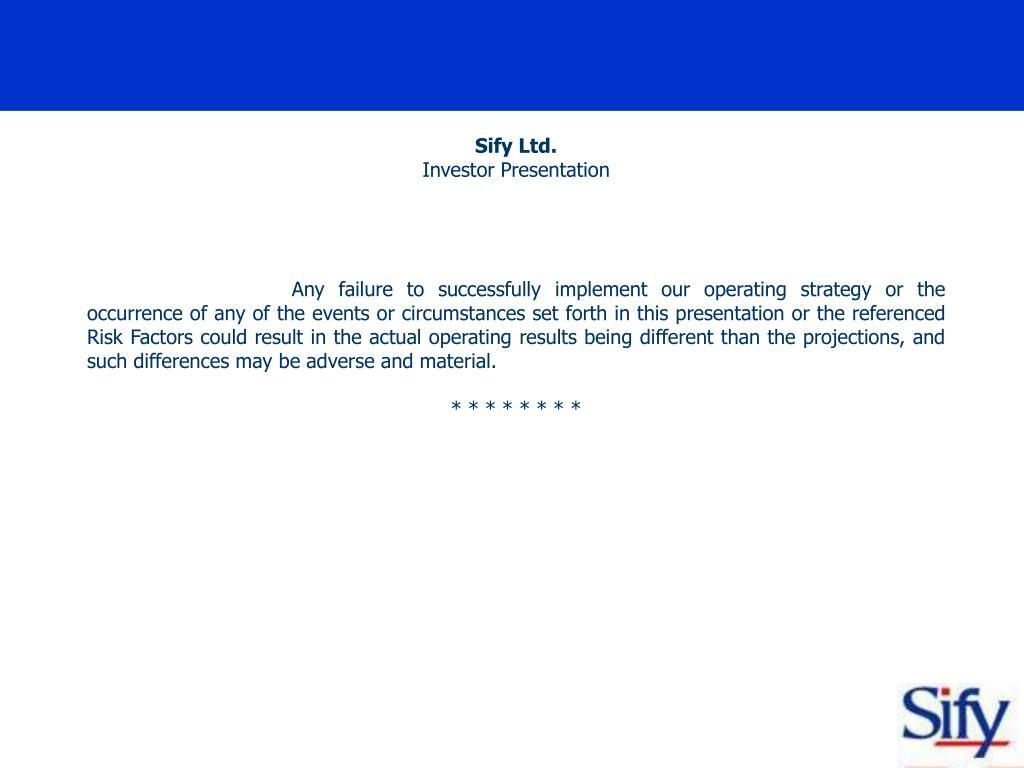 Sify Ltd.
