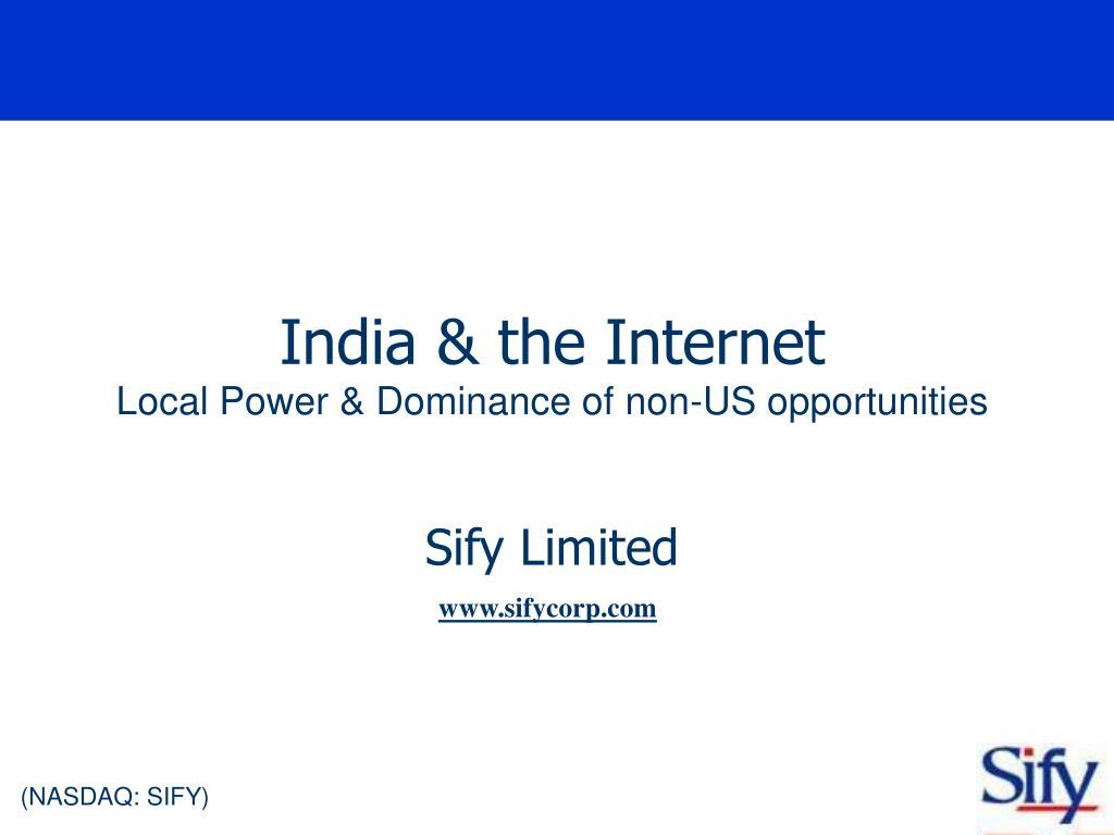 India & the Internet