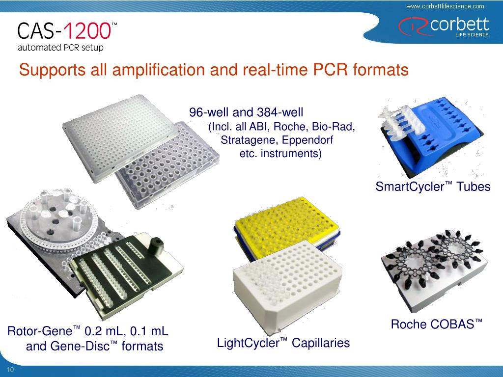 Supports all amplification and real-time PCR formats