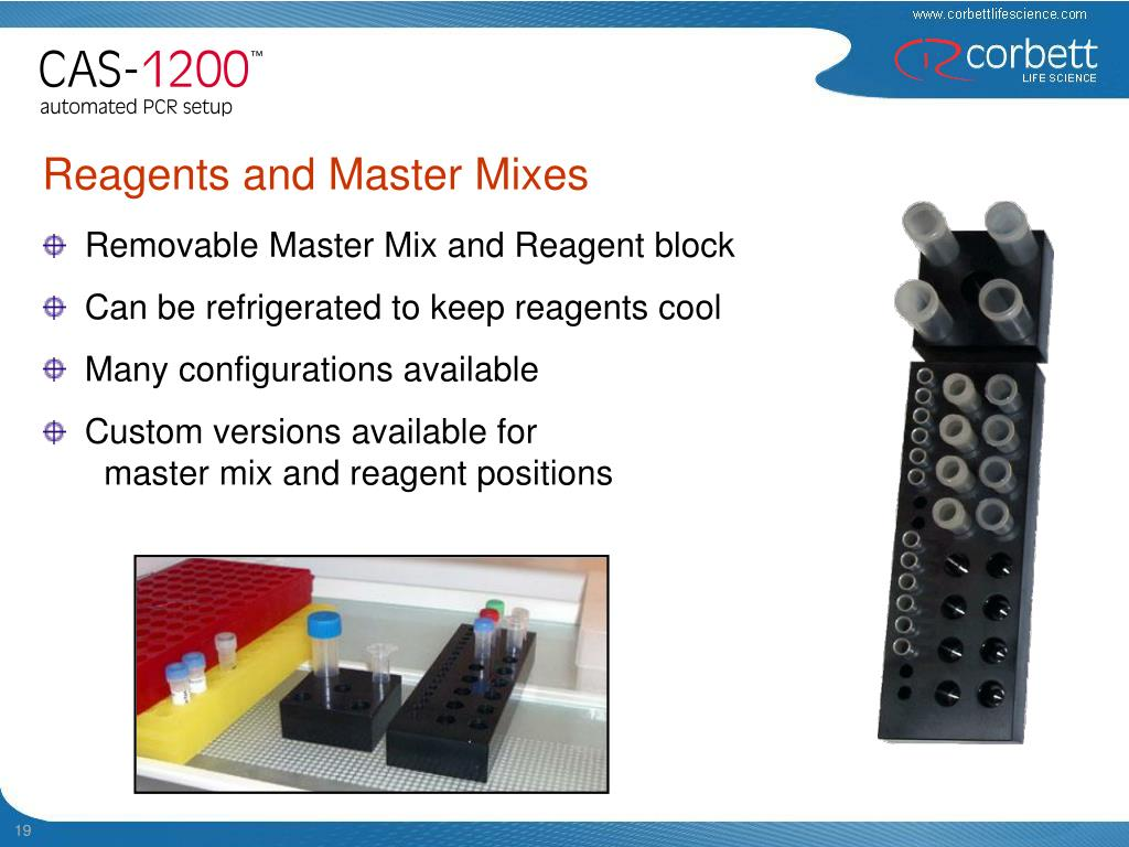 Removable Master Mix and Reagent block