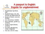 a passport to english engelsk for ungdomstrinnet47