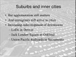 suburbs and inner cities25