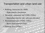 transportation and urban land use