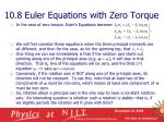 10 8 euler equations with zero torque