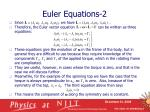 euler equations 2