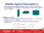 stability against perturbation 2