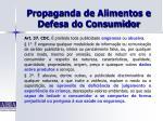 propaganda de alimentos e defesa do consumidor28