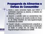 propaganda de alimentos e defesa do consumidor29