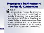 propaganda de alimentos e defesa do consumidor30