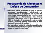 propaganda de alimentos e defesa do consumidor31