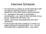 interview schedule