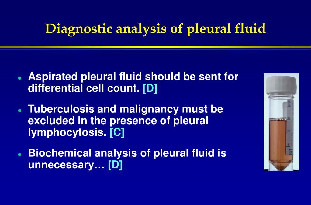 Diagnostic analysis of pleural fluid