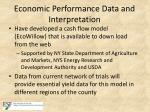 economic performance data and interpretation