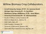 willow biomass crop collaborators