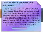 listen for abram s solution to the disagreement11