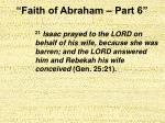 faith of abraham part 610