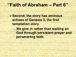faith of abraham part 611