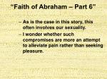 faith of abraham part 612