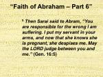 faith of abraham part 614