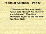 faith of abraham part 615