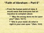 faith of abraham part 616