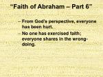 faith of abraham part 617