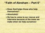 faith of abraham part 618