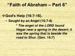 faith of abraham part 619