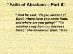 faith of abraham part 620