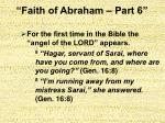 faith of abraham part 621