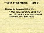 faith of abraham part 622