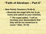 faith of abraham part 623