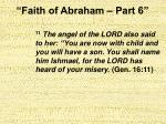faith of abraham part 624
