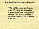 faith of abraham part 625