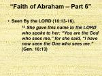 faith of abraham part 626