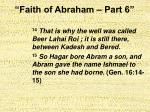 faith of abraham part 627