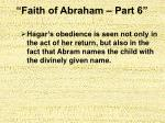 faith of abraham part 629