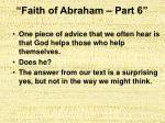 faith of abraham part 63