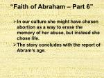 faith of abraham part 630