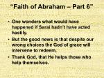 faith of abraham part 631