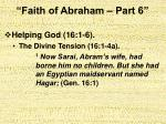 faith of abraham part 64