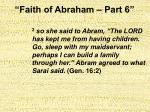 faith of abraham part 65