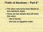 faith of abraham part 67