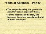 faith of abraham part 68