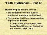 faith of abraham part 69
