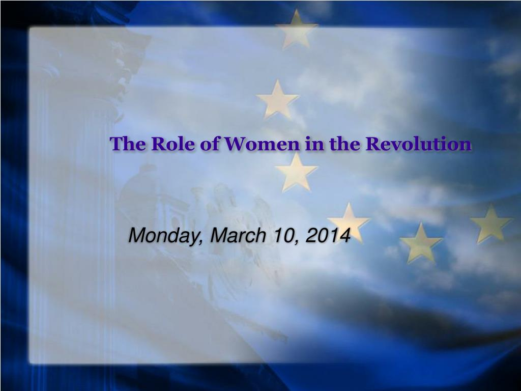 the role of women in the revolution l.